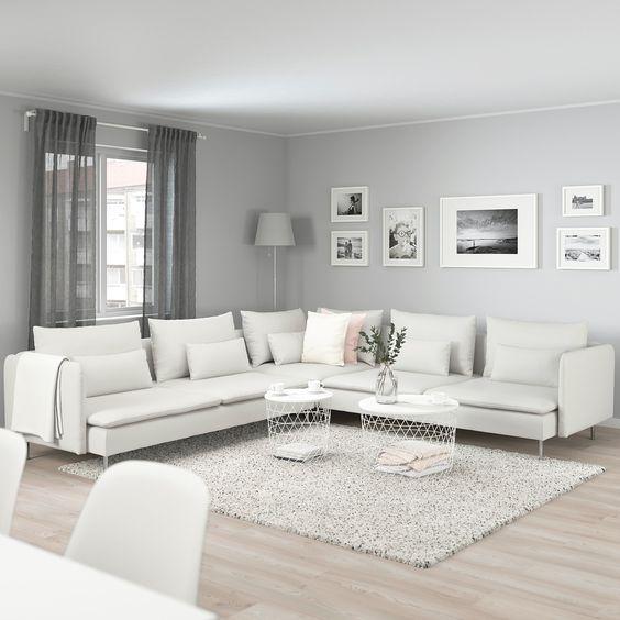 mẫu phòng khách trắng-xám-đen hiện đại màu trắng sàn gỗ