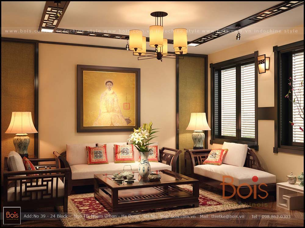 hình nội thất công ty Bois Indochinois