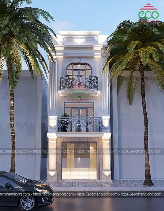 mẫu nhà phố tân cổ điển 3 tầng