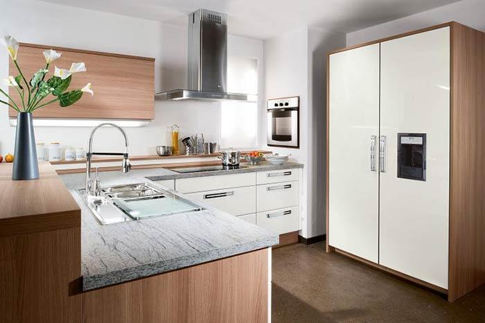 Mẫu tủ bếp đẹp mdf chống ẩm phủ melamine