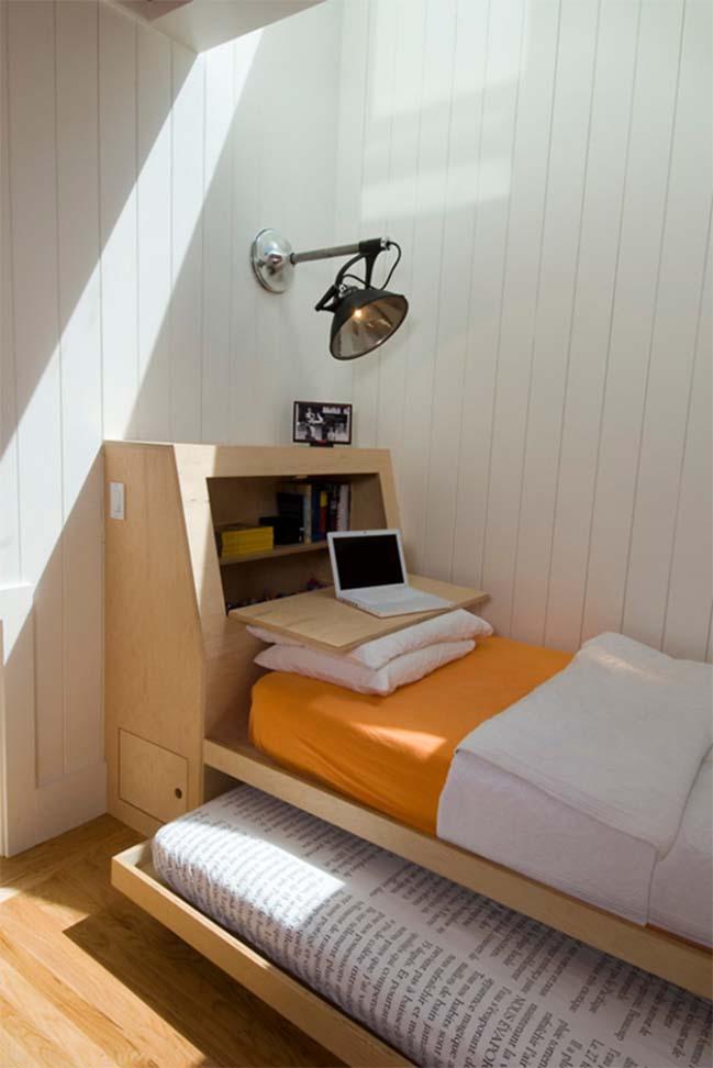 Giường ngủ 2 trong 1 cho phòng ngủ nhỏ
