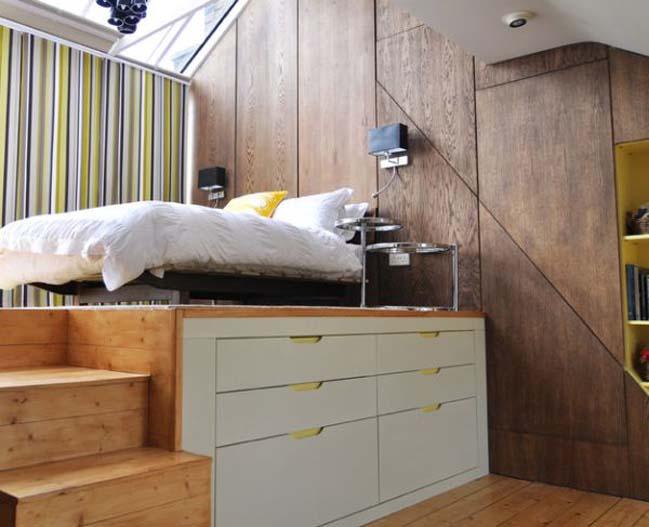 Hệ giường tủ kết hợp bố trí cho phòng ngủ diện tích nhỏ