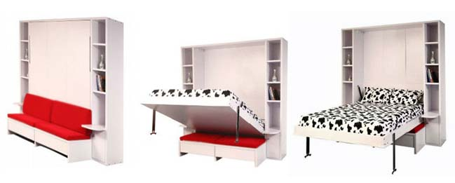 Giường gấp - murphy bed nên bố trí cho phòng ngủ nhỏ
