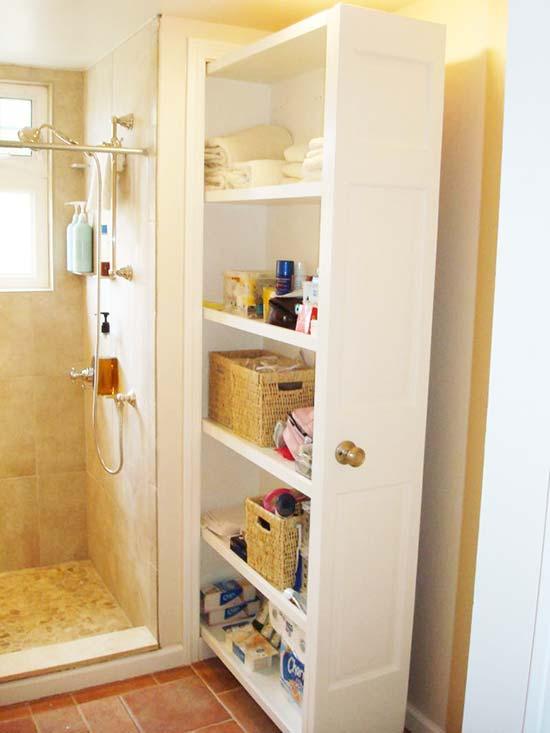 tủ kéo giải pháp cho phòng tắm nhỏ