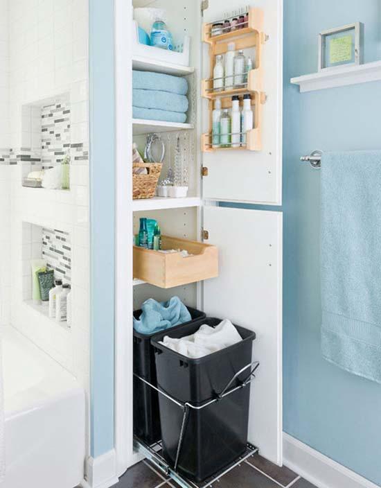 Thiết kế tủ kéo với độ lớn của các ngăn kéo nhỏ dần khi lên cao
