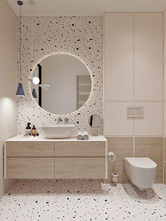 Gạch phòng tắm mẫu gạch bê tông đá mài
