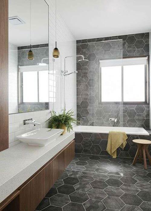 Gạch phòng tắm mẫu gạch porcelain lục giác