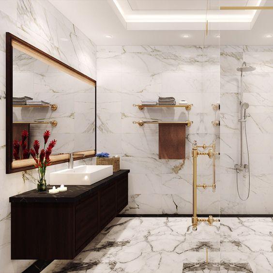 Gạch phòng tắm mẫu vân đá marble