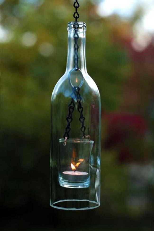 mẫu đèn độc nhất vô nhị từ chai thủy tinh bỏ đi