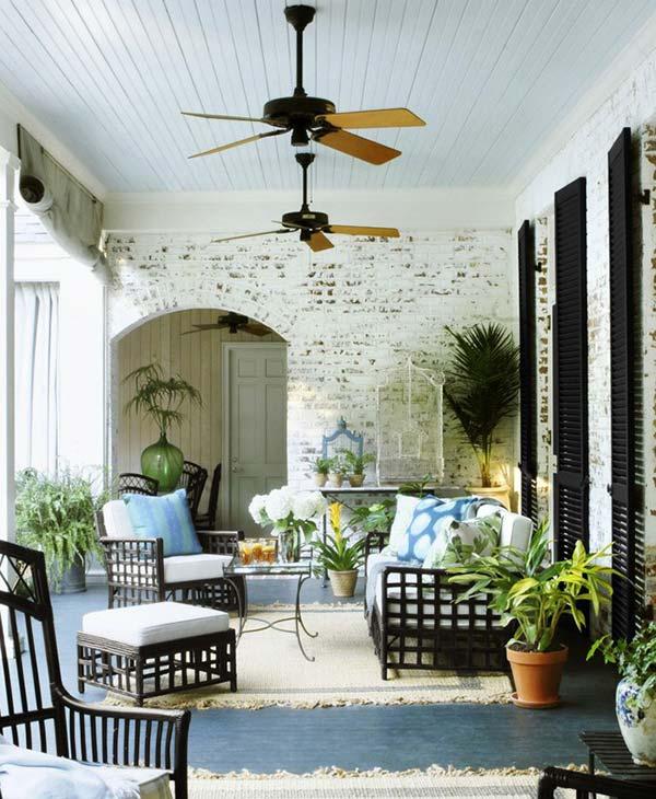 Góc thư giãn trong nhà nhưng như thế không có nghĩa là thiếu vắng bóng cây xanh
