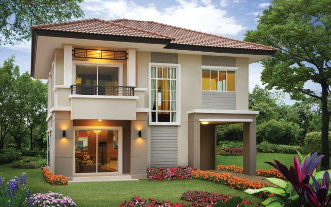 mẫu biệt thự đẹp 2 tầng mái thái