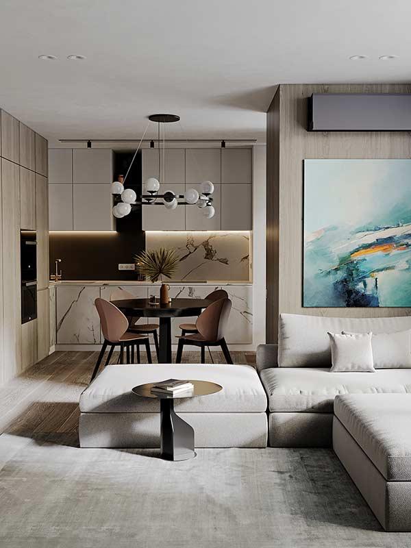 Mẫu căn hộ 60m2 by Zetwix tại Nhadepso