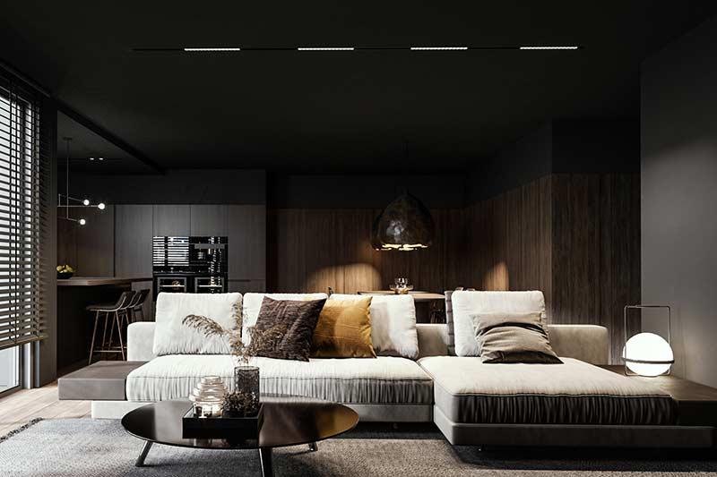 Phòng khách căn hộ đẹp by Anastasiia