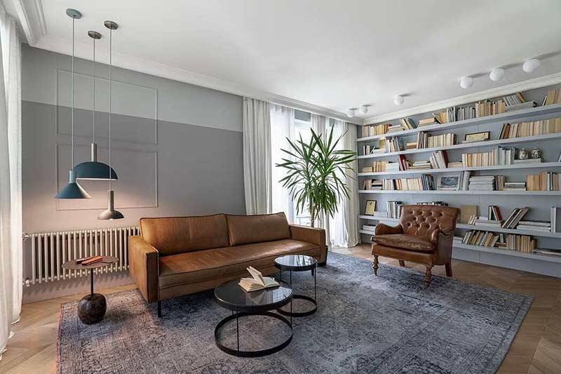 phong khach can ho chung cu dep by Hush Architects