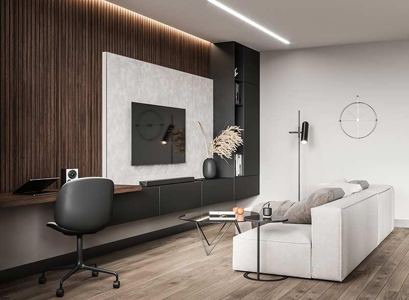 Mẫu phòng khách chung cư đẹp by Katerina