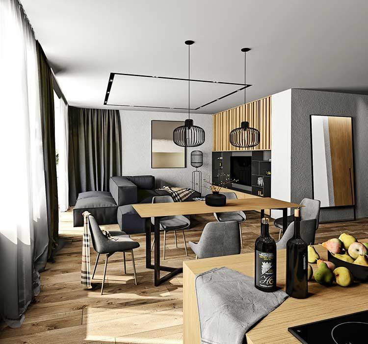 phòng khách căn hộ by Shafran