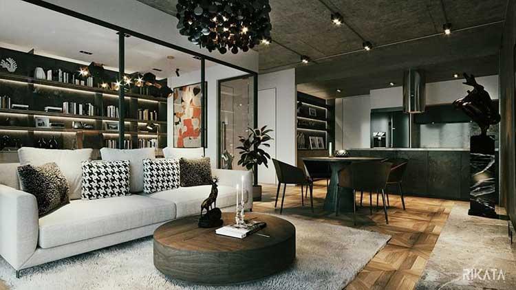 Mẫu căn hộ chung cư đẹp by Rikata Design tại Nhadepso