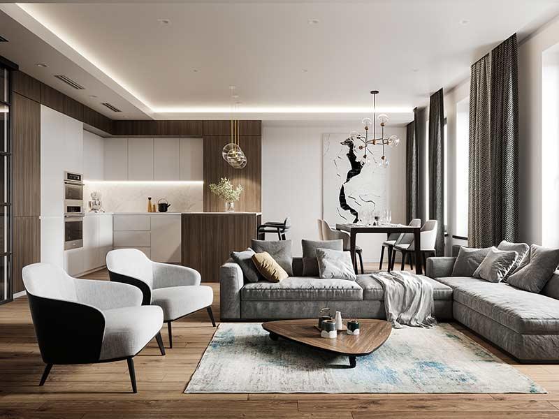 Mẫu chung cư đẹp by Vizline Studio tại Nha dep so