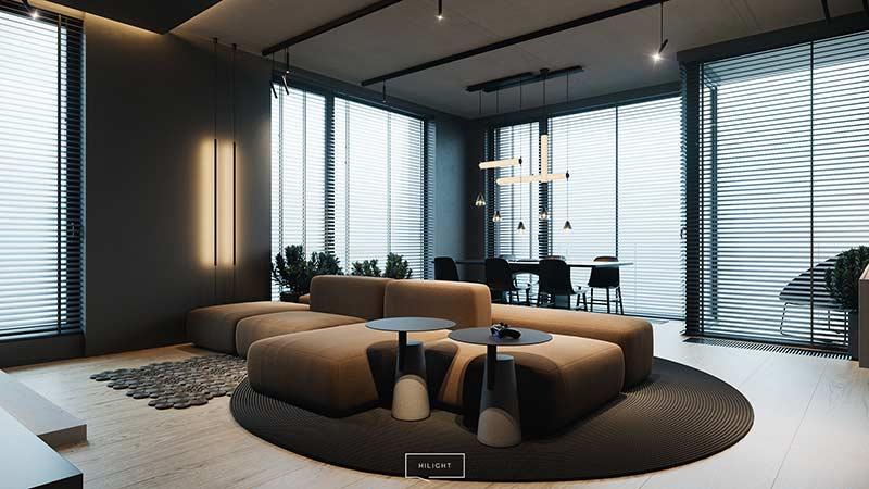 Mẫu căn hộ hiện đại sang trọng by Hilight Design tại Nhadepso