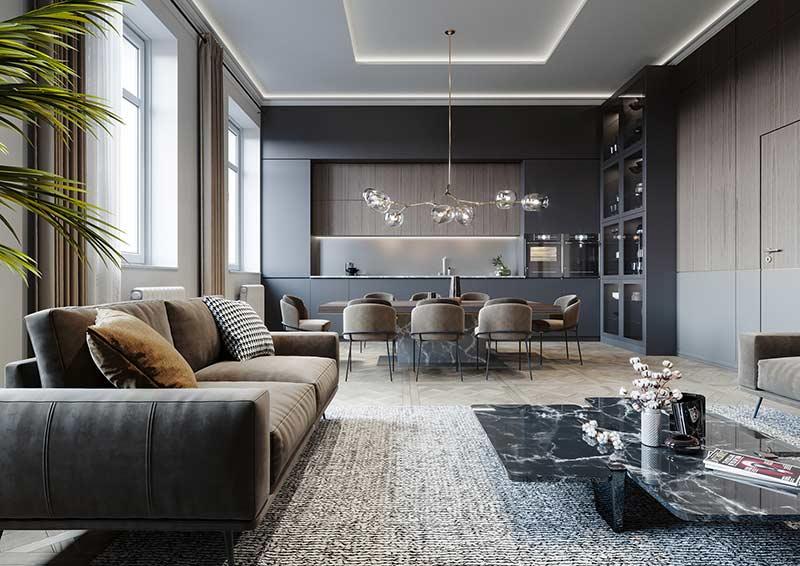 Mẫu căn hộ đẹp sang trọng by Marco Design tại Nhadepso