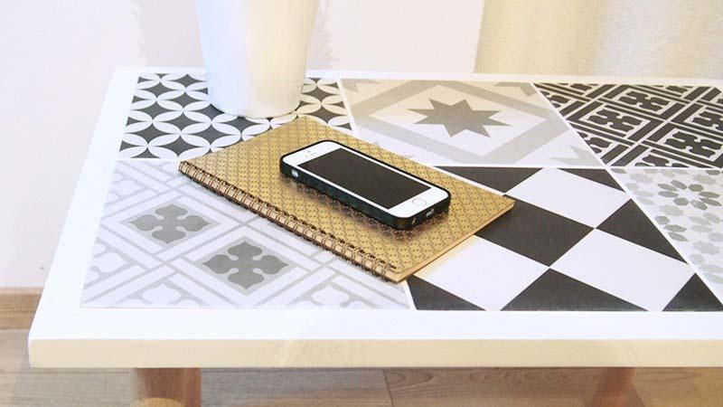 gạch bông làm mặt bàn