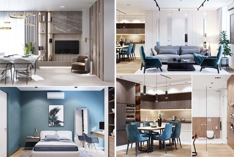 mẫu nội thất căn hộ chung cư đẹp