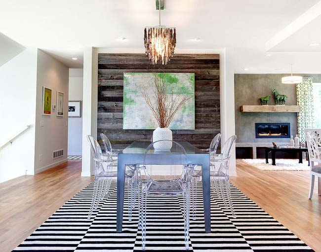 phòng ăn được thiết kế với nội thất cùng cách trang trí hiện đại