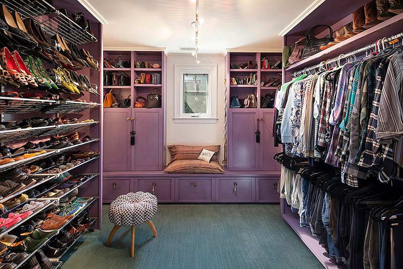 mẫu tủ quần áo không cửa, bạn thỏa thích ních quần áo, giày dép, phụ kiện