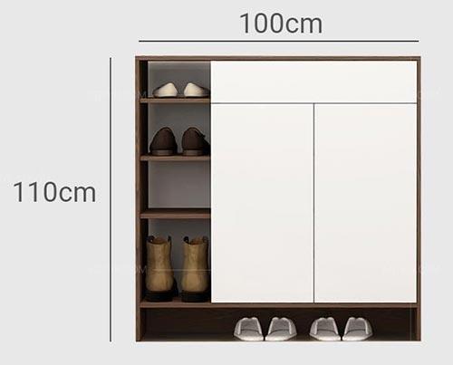 kích thước tủ giày dép là yếu tố quan tâm hàng đầu