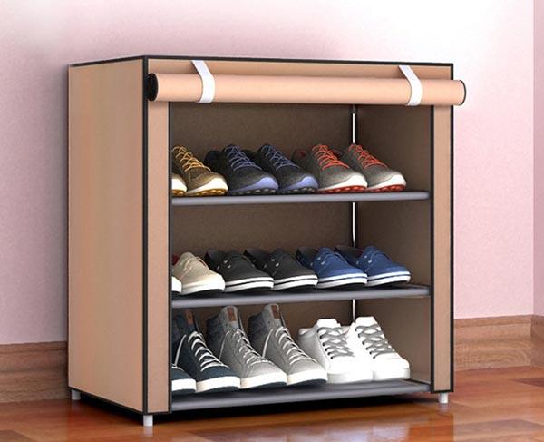 Tủ giày vải 3 tầng