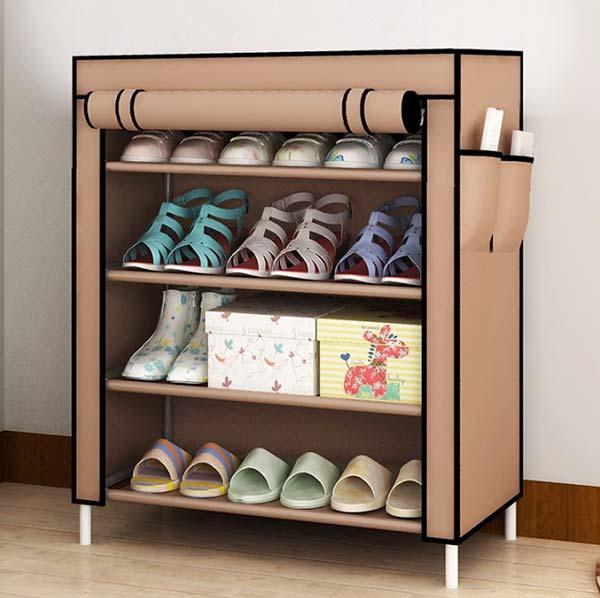 Tủ giày vải 4 tầng