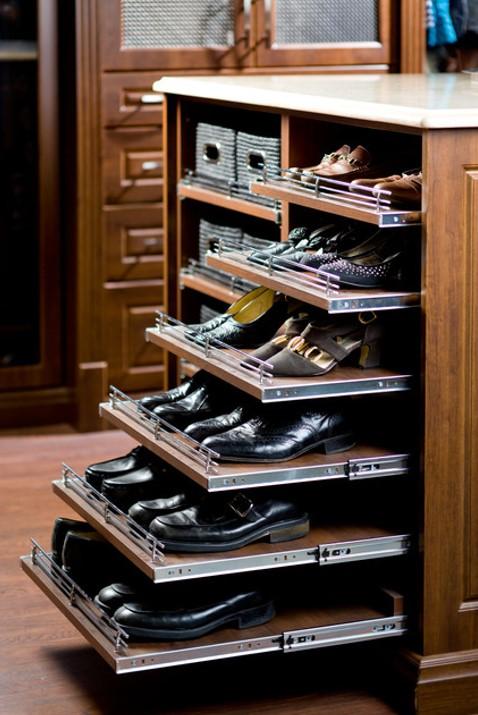 Kệ giày 6 tầng thiết kế tay cầm kéo trượt thuận tiện
