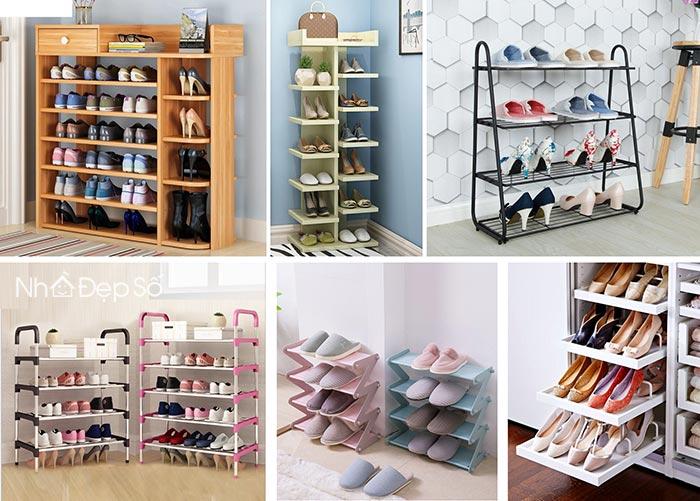Kệ để giày trên thị trường có rất nhiều chất lượng và kiểu dáng đa dạng