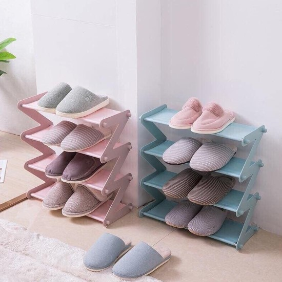 Kệ giày dép mini với màu sắc pastel nhẹ nhàng, dễ thương