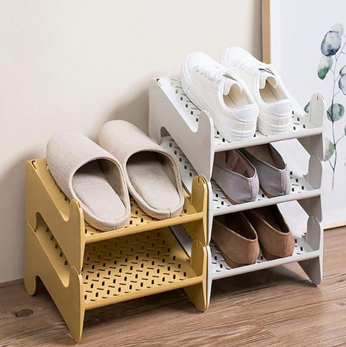 Kệ giày nhựa đẹp với màu sắc nhẹ nhàng, tươi mới
