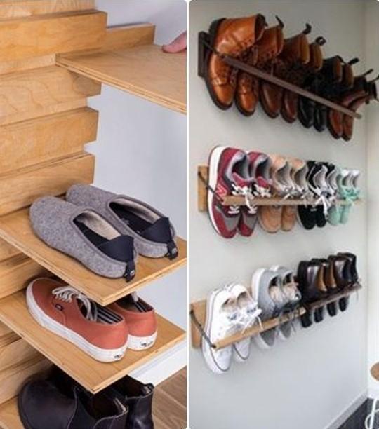 Kệ giày treo tường có thiết kế khoa học