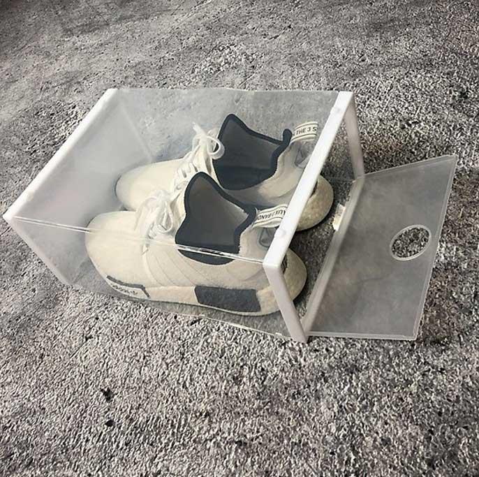 Hộp đựng giày trong suốt thiết kế không ngăn kéo