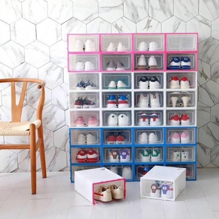 Hộp đựng giày nhựa cứng mica rất bền bỉ và chịu lực tốt