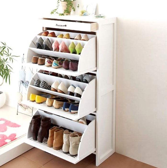 Tủ giày thông minh 3 tầng cho căn hộ diện tích hạn chế