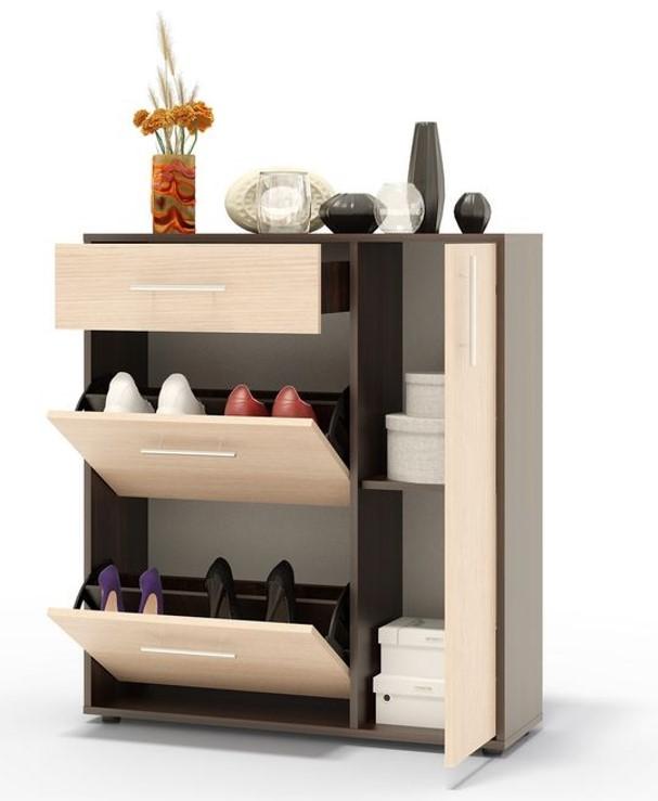 Tủ giày thông minh cánh lật kết hợp đặt thêm đồ nội thất