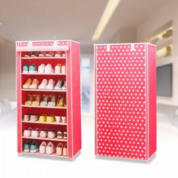 Thiết kế chấm bi của tủ giày vải 7 tầng