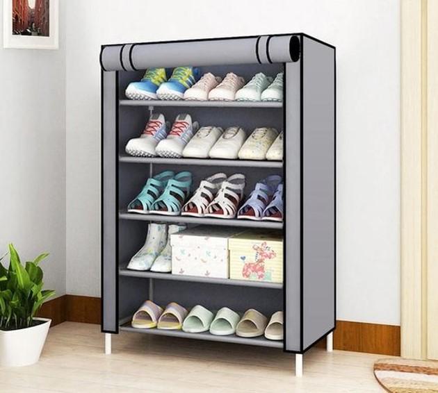Tủ giày vải hài hòa với tổng thể nội thất