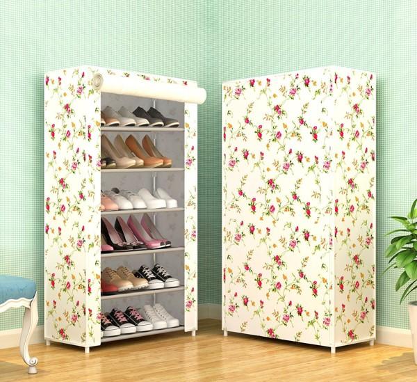 Tủ giày vải 6 tầng với họa tiết cực xinh xắn