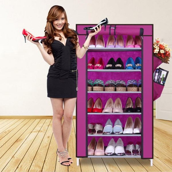 Tủ giày 6 tầng màu tím cho cô nàng yêu sự lãng mạn