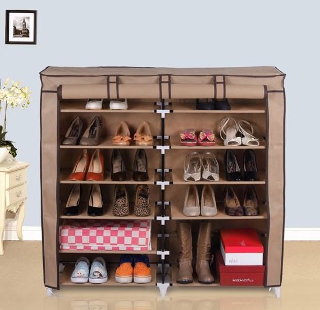 Tủ giày 6 tầng giúp giày dép sắp xếp gọn gàng hơn