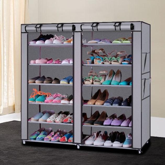 Tủ giày 6 tầng với gam màu nhẹ nhàng