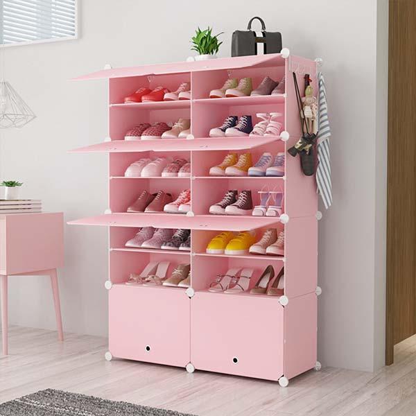 Chọn màu sắc tủ giày nhựa nên hài hòa với tổng thể không gian