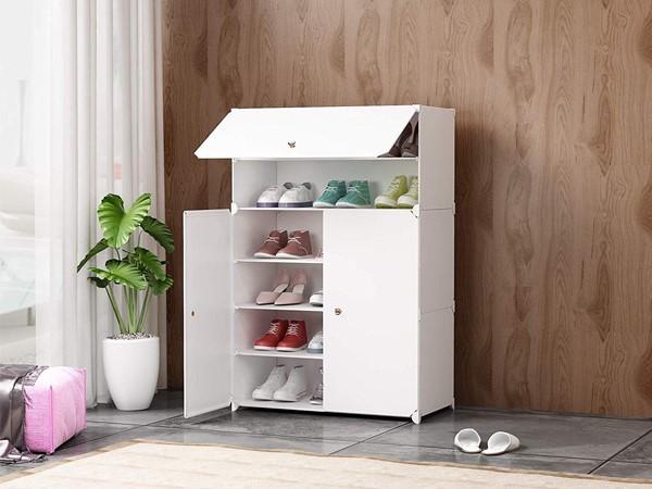 Tủ để giày dép bằng nhựa giá rẻ khá tiện dụng