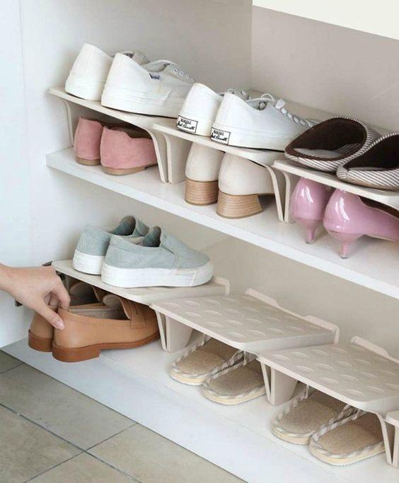 Tủ giày nhựa kết hợp với kệ để giày dép