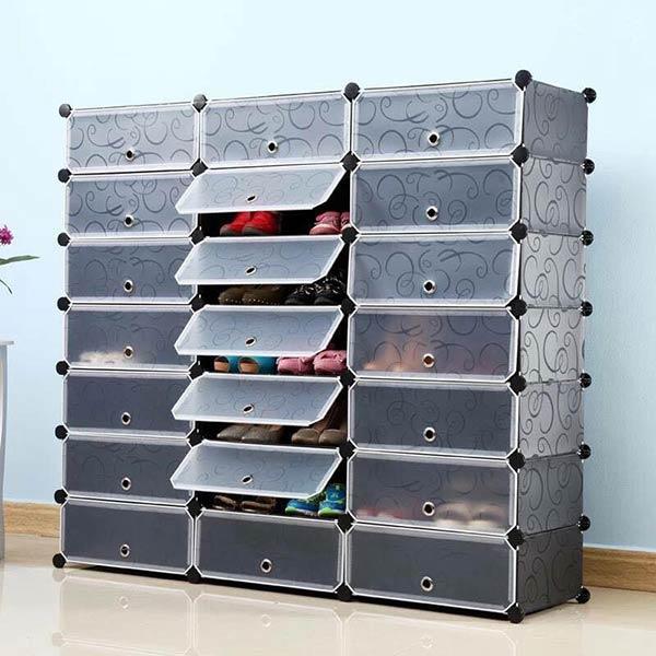 Tủ giày bằng nhựa có thể lắp ráp dễ dàng